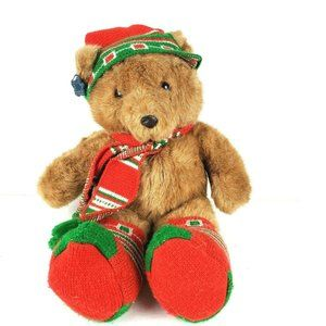 Applause Bear Claws Plush Christmas Holiday 1988
